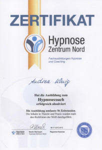 Zertifikat Hypnose-Coach